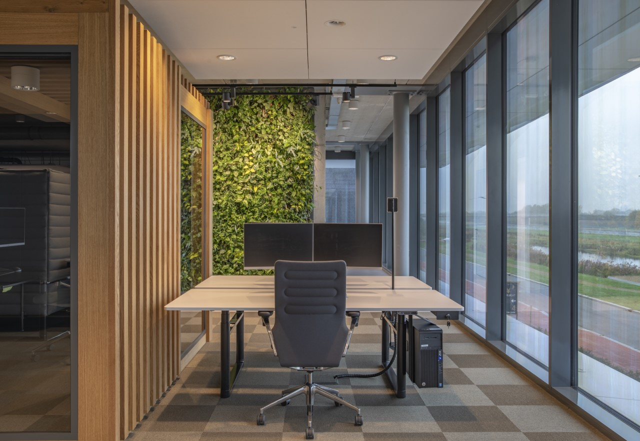 SemperGreenwall Indoor op kantoor