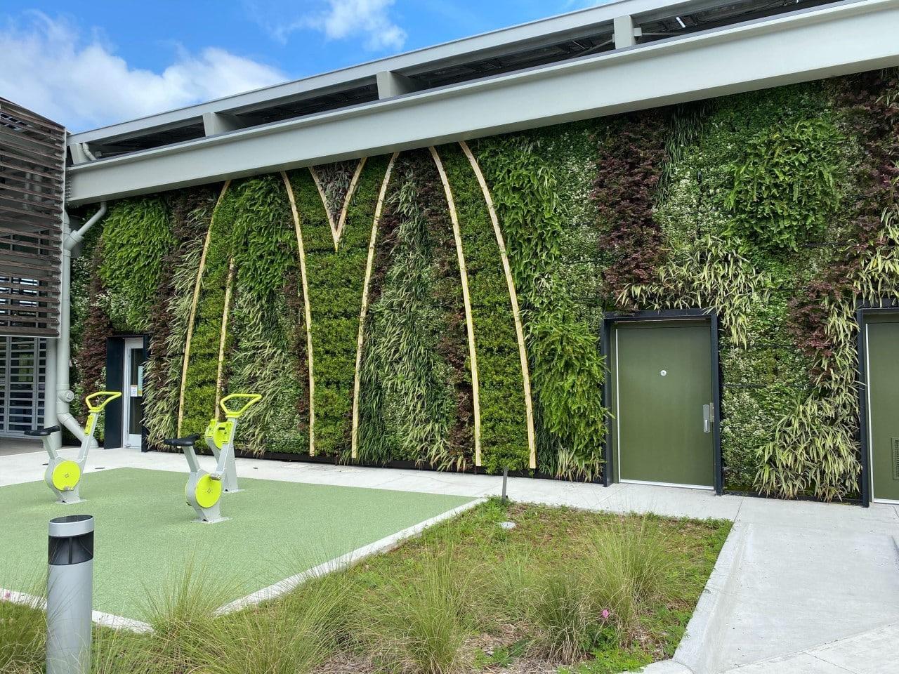 Groene gevel McDonald's in Orlando, Florida, VS